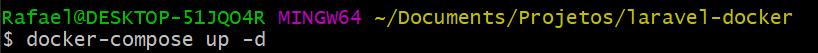 docker-compose up -d